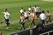 Leeds United players warm up during the EFL Sky Bet Championship match between Bristol City and Leeds United at Ashton Gate, Bristol, England on 9 March 2019.