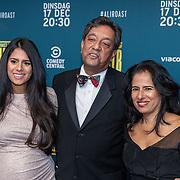 NLD/Hilversum/20191210, The Roast of Ali B., Prem Radhakisum met partner en zwangere dochter