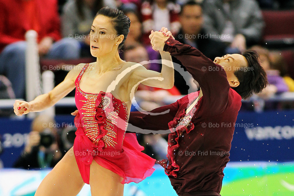 15 February 2010: Gold medalists SHEN Xue and ZHAO Hongbo from CHN during the Figure Skating Pairs Free Skating Program held at the Pacific Coliseum during the Vancouver 2010 Winter Olympics  in Vancouver,  British Columbia, Canada..