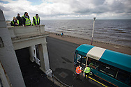 Bus drivers watching judges marking a practical test during the Bus Driver of the Year competition in Blackpool. The event, first staged in 1967, attracted 105 entrants from across the United Kingdom who completed theory and practical driving test to determine who would win the 2013 award.