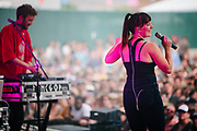 Sylvan Esso at the 2017 Travelers' Rest Festival in Missoula, MT. Photo by Jason Quigley