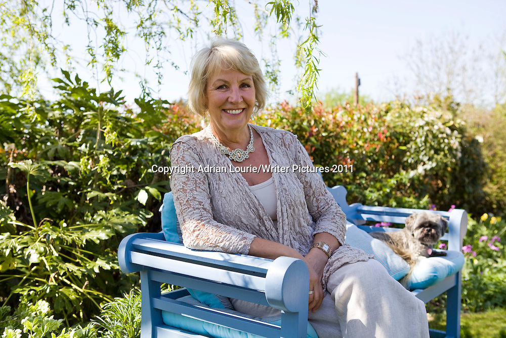 Lesley Pearse, author, photographed at home near Bath