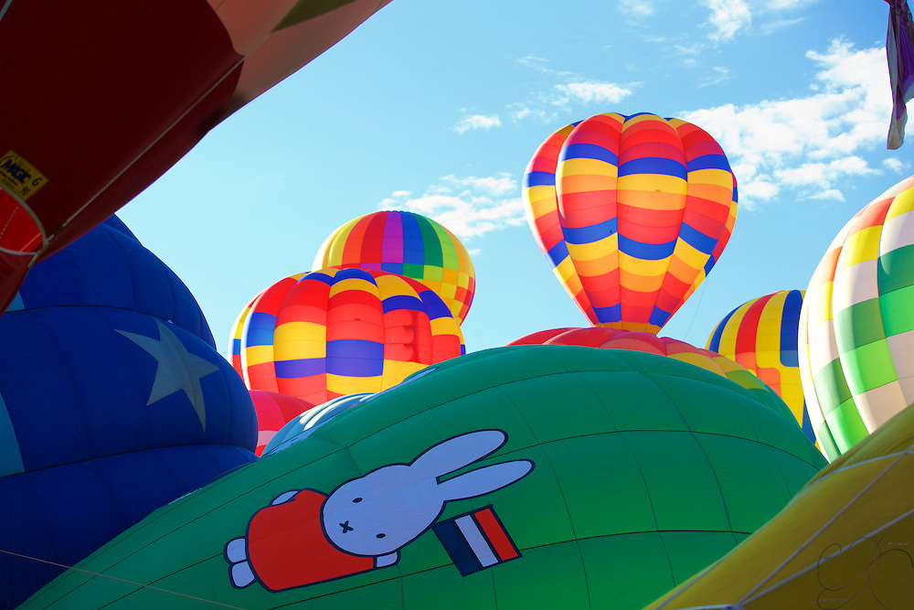 Miffy prepares to join the sky parade of the kaleidoscope of airborne color