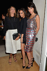 Left to right, NATALIE MASSENET, VICTORIA BECKHAM and CAROLINE VON WESTENHOLZ at a party hosed by the US Ambassador to the UK Matthew Barzun, his wife Brooke Barzun and editor of UK Vogue Alexandra Shulman in association with J Crew to celebrate London Fashion Week held at Winfield House, Regent's Park, London on 16th September 2014.
