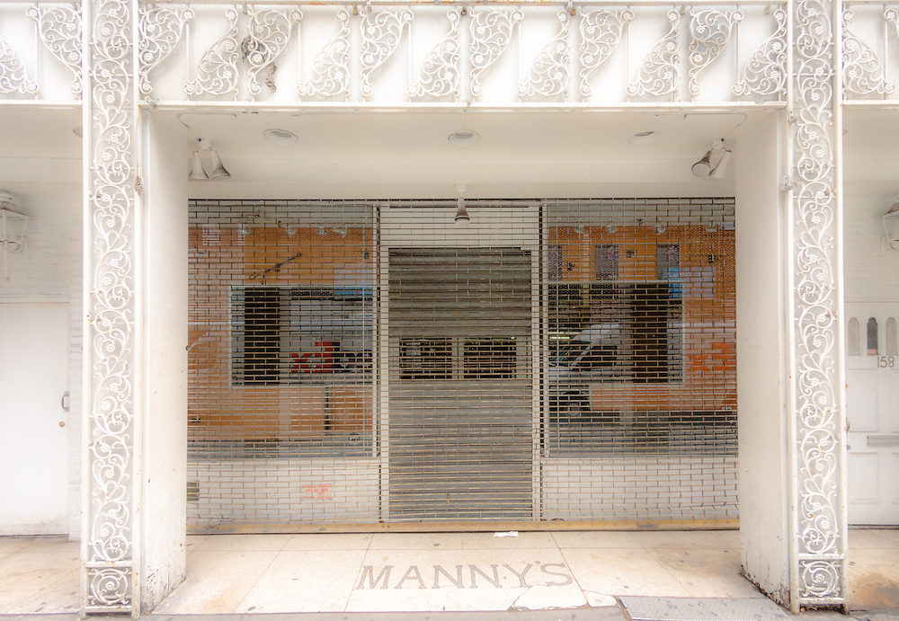 Manny's Music Store facade West 48th. St New York places NYC