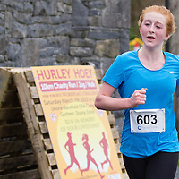Anna Courtney, Marion AC, running in the 2015 Hurley Hoey Charity 10K