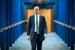 © Licensed to London News Pictures. 03/10/2018. Birmingham, UK. Matt Hancock today ahead of Prime Minister Theresa May's speech on the final day of the Conservative Party Conference being held at the International Convention Centre in Birmingham. Photo credit: Andrew McCaren/LNP