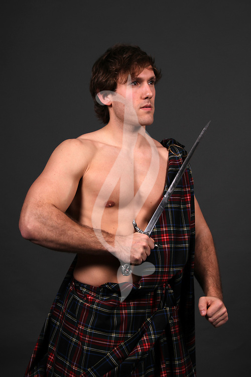 male model posing in a medieval highlander outfit Highland Male
