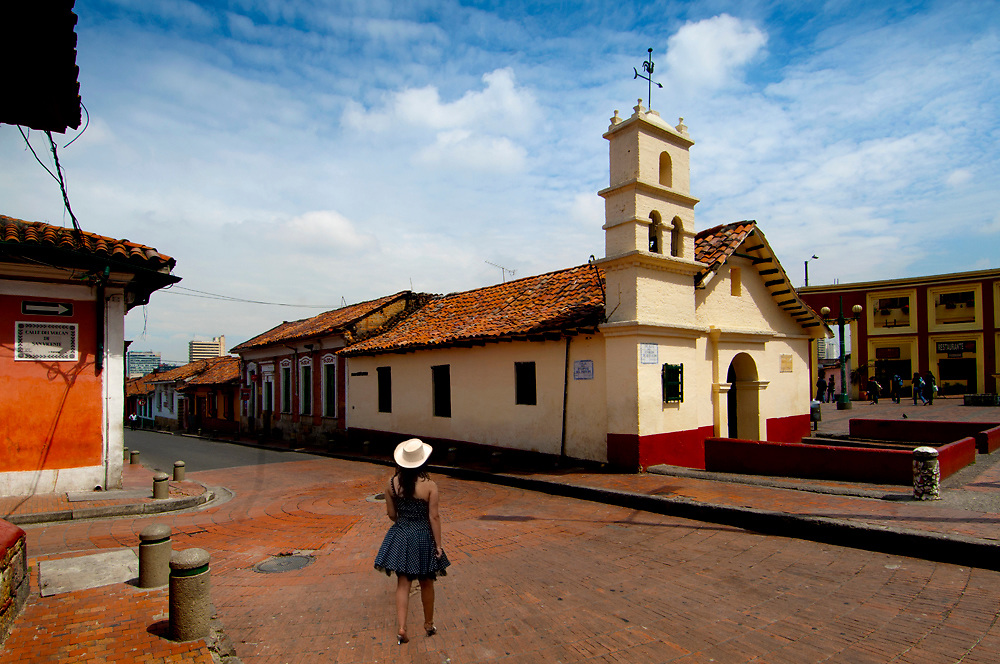The Ermita del Humiladero Chapel in Bogota's oldest part of the city, Plaza del Chorro de Quevedo (where Bogota was found).