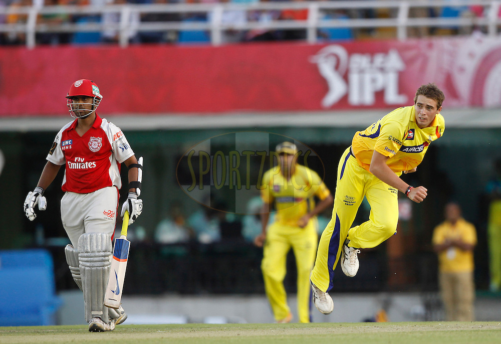 Chennai Super King Tim Southee during match 9 of the Indian Premier League ( IPL ) Season 4 between the Kings XI Punjab and the Chennai Super Kings held at the PCA stadium in Mohali, Chandigarh, India on the 13th April 2011..Photo by Pankaj Nangia/BCCI/SPORTZPICS