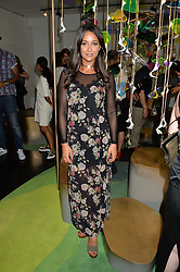 ROXIE NAFOUSI at the opening of L'Eden by Perrier-Jouet held at The Unit, 147 Wardour Street, Soho, London on 15th September 2016.