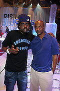 l to r:  Wale and Steven Hill at the Grey Goose and BET Presents ' Rising Icons ' featuring Wale held at BET Studios on July 28, 2009 in New York City