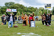 Photos - In solidarity with #blacklivesmatter people demanding justice and equal treatment for BAME communities at Lordship recreational grounds.