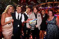 HILVERSUM - In Studio24 is de Finale van Bloed, Zweet en Tranen. Met op de foto Tooske Ragas, Jeroen van der Boom, Gerard Joling, Jason Bouman, Roxeanne Hazes en Samantha Bouman. FOTO LEVIN DEN BOER - PERSFOTO.NU