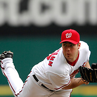 18 July 2007:  Washington Nationals pitcher Jason Bergmann (57) in action against the the Houston Astros.  The Nationals defeated the Astros 7-6 at RFK Stadium in Washington, D.C.  ****For Editorial Use Only****