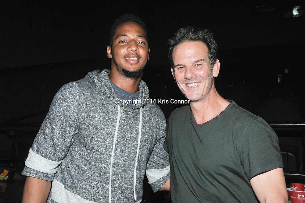 RICHMOND, VA - AUG 13: Director Peter Berg, and Washington Redskin player Josh Doctson attend a special screening for the Washington Redskins football team of Lions gate Entertainment's new movie Deepwater Horizon at Bow Tie Cinema on August 13, 2016 in Richmond, Va. (Photo by Kris Connor for Lions Gate Entertainment)