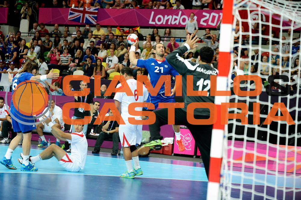 DESCRIZIONE : France Handball Jeux Olympiques Londres GIOCATORE : Guigou Michael FRA SQUADRA : France Homme DATA : 2012-08-02CATEGORIA : SPORT : HandBall AUTORE : AGENZIA CIAMILLO & CASTORIA/G.Ciamillo