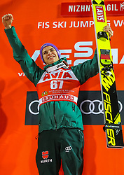 03.12.2017, Nordic Center, Nizhny Tagil, RUS, FIS Weltcup Ski Sprung, Nizhny Tagil, im Bild Sieger Andreas Wellinger (GER) // Winner Andreas Wellinger of Germany during FIS Skijumping World Cup at the Nordic Center in Nizhny Tagil, Russia on 2017/12/03. EXPA Pictures © 2017, PhotoCredit: EXPA/ Tadeusz Mieczynski