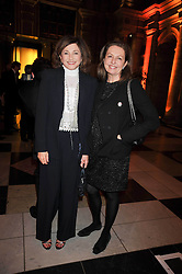 Left to right, DORIT MOUSSAIEFF and DANIELLA LUXEMBOURG at a dinner to celebrate the opening of 'Maharaja - The Spendour of India's Royal Courts' an exhbition at the V&A, London on 6th October 2009.