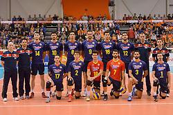 31-05-2015 NED: CEV EK Kwalificatie Nederland - Spanje, Doetinchem<br /> Nederland wint met 3-1 van Spanje en plaatst zich voor het EK in Bulgarije en Italie / Teamfoto Spanje