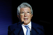 Atletico de Madrid president Enrique Cerezo during the presentation of new players on July 18, 2019 at Wanda Metropolitano stadium in Madrid, Spain - Photo Oscar J Barroso / Spain ProSportsImages / DPPI / ProSportsImages / DPPI
