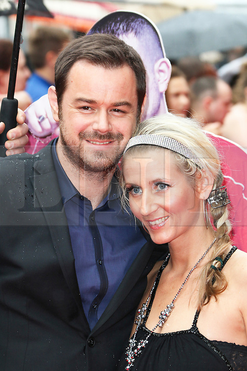 © London News Pictures. File pic dated 09/06/2014. Danny Dyer with his long term partner Joanne Mas at  The Hooligan Factory World Film Premiere in London on 09 June 2014. It has been reported that Dyer has had an affair  with a 21-year-old student.  Photo credit: Richard Goldschmidt/LNP