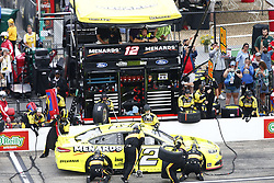 July 22, 2018 - Loudon, New Hampshire, United States of America - Ryan Blaney (12) comes down pit road for service during the Foxwoods Resort Casino 301 at New Hampshire Motor Speedway in Loudon, New Hampshire. (Credit Image: © Justin R. Noe Asp Inc/ASP via ZUMA Wire)