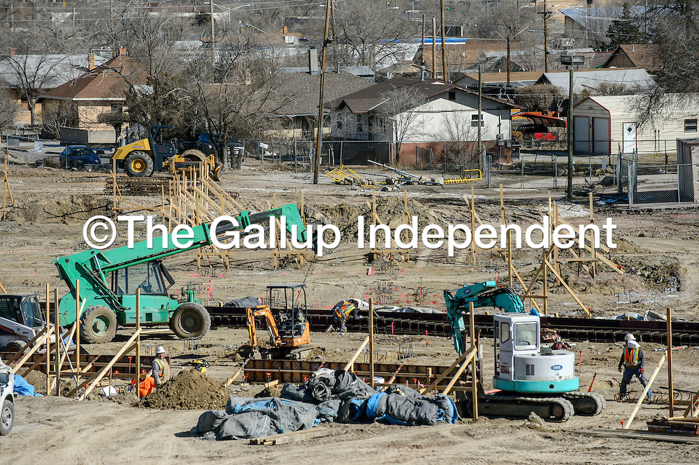 Construction continues on Washington Elementary in Gallup Friday.