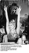 Anna Nicole Smith at  the Oscar Night party hosted by Steve Tisch and Vanity Fair. Morton's. Los Angeles. March 1995<br />Film. 95560/19<br />© Copyright Photograph by Dafydd Jones<br />66 Stockwell Park Rd. London SW9 0DA<br />Tel 0171 733 0108