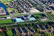 Nederland, Utrecht, Gemeente Woerden, 15-07-2012; de Wijk Snel en Polanen met .Sportcentrum Snellerpoort.Woerden, new residential area and sports center  in the polder. luchtfoto (toeslag), aerial photo (additional fee required).luchtfoto (toeslag), aerial photo (additional fee required).foto/photo Siebe Swart