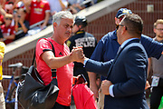 Manchester United Manager Jose Mourinho arrives at the stadium during the Manchester United and Liverpool International Champions Cup match at the Michigan Stadium, Ann Arbor, United States on 28 July 2018.