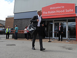 BlackPool's Manger Jose Riga arrives at the City Ground. - Photo mandatory by-line: Alex James/JMP - Mobile: 07966 386802 09/08/2014 - SPORT - FOOTBALL - Nottingham - City Ground - Nottingham Forest v Blackpool - Sky Bet Championship - First game of the season