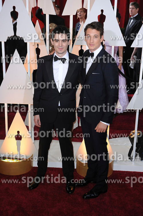 22.02.2015, Dolby Theatre, Hollywood, USA, Oscar 2015, 87. Verleihung der Academy of Motion Picture Arts and Sciences, im Bild Miles Teller // attends 87th Annual Academy Awards at the Dolby Theatre in Hollywood, United States on 2015/02/22. EXPA Pictures &copy; 2015, PhotoCredit: EXPA/ Newspix/ PGMP<br /> <br /> *****ATTENTION - for AUT, SLO, CRO, SRB, BIH, MAZ, TUR, SUI, SWE only*****