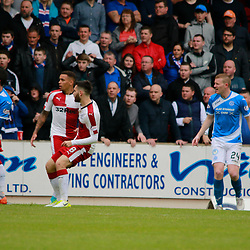 Jon Toral strikes for Rangers in front of the traveling fans