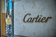 Cartier Display Rodeo Drive, Luxury Shopping, Quality, Boutique, American luxury specialty department stores, fashion and designer merchandise, Beverly Hills, Los Angeles CA,