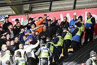 Football - 2019 / 2020 Sky Bet (EFL) Championship - Swansea City vs. Reading<br /> <br /> Cardiff fans watched by police , at the Liberty Stadium.<br /> <br /> COLORSPORT/WINSTON BYNORTH