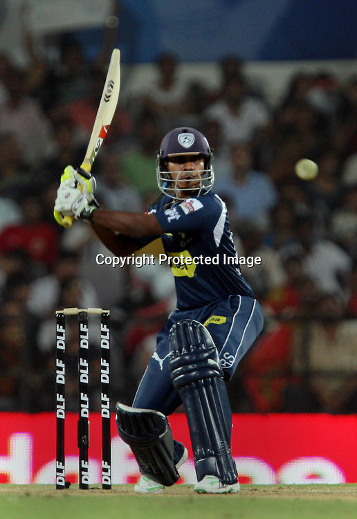 Deccan Chargers Batsman Bodapati Sumanth Hit The Shot During The Indian Premier League - 46th match Twenty20 match | 2009/10 season Played at Vidarbha Cricket Association Stadium, Jamtha, Nagpur 12 April 2010 - day/night (20-over match)