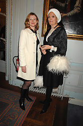 Left to right, FRANCES OSBORNE and EMMA KITCHENER-FELLOWES at a party to celebrate the publication of 101 World Heroes by Simon Sebag-Montefiore at The Savile Club, 69 Brook Street, London W1 on 9th October 2007.<br /><br />NON EXCLUSIVE - WORLD RIGHTS
