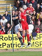 Aberdeen's Adam Rooney and Dundee's Thomas Konrad  - Dundee v Abderdeen, SPFL Premiership at Dens Park<br /> <br />  - &copy; David Young - www.davidyoungphoto.co.uk - email: davidyoungphoto@gmail.com