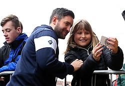 Bristol City head coach Lee Johnson poses for a selfie with a fan - Mandatory by-line: Robbie Stephenson/JMP - 10/03/2018 - FOOTBALL - Pirelli Stadium - Burton upon Trent, England - Burton Albion v Bristol City - Sky Bet Championship