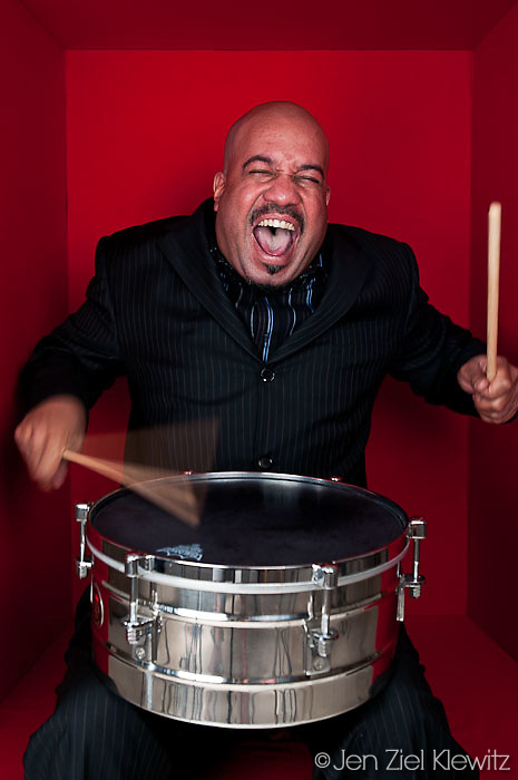 Portraits of Orquesta Rumbankete, a Los Angeles, California-based salsa orchestra, taken in Woodland Hills, Calif., on April 3, 2010, for the band's promotional use and album cover.  Photo by Jen Klewitz.  (Jen Klewitz © 2010)