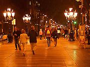 Barcelona, Spain, Las Ramblas Promenade