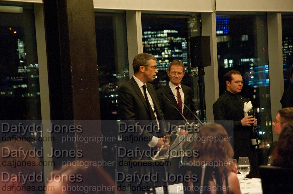 SIR NICHOLAS SEROTA; TOM MEGGLE, Yayoi Kusama opening. Tate Modern. London. 7 February 2012
