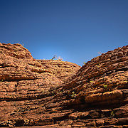 Red rock wall at Kings Canyon