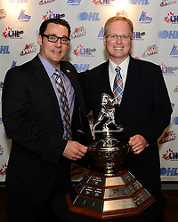 Eric Veilleux of the Baie-Comeau Drakkar was named the Old Dutch Brian Kilrea Coach of the Year at the 2013-14 Canadian Hockey League Awards Ceremony at the Grand Theatre in London, ON on Saturday May 24, 2014. Photo by Aaron Bell/CHL Images