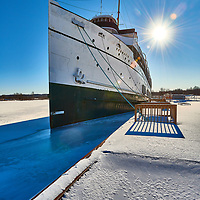 SS Keewatin in Winter at Port McNicoll