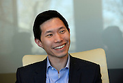 Insight Sourcing Group's Lee Tse talks about the company's values during an interview at the firm's headquarters Friday, Feb. 27, 2015, in Norcross, Ga. David Tulis / AJC Special