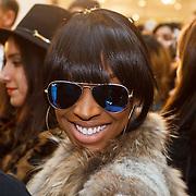 NLD/Amserdam/20131116 - Khloe Kardashian arriving with a private jet on Schphol Airport Amsterdam, girlfriend Malika Haqq