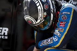 April 13, 2018 - Bristol, Tennessee, United States of America - April 13, 2018 - Bristol, Tennessee, USA: Kevin Harvick (4) waits to practice for the Food City 500 at Bristol Motor Speedway in Bristol, Tennessee. (Credit Image: © Stephen A. Arce/ASP via ZUMA Wire)