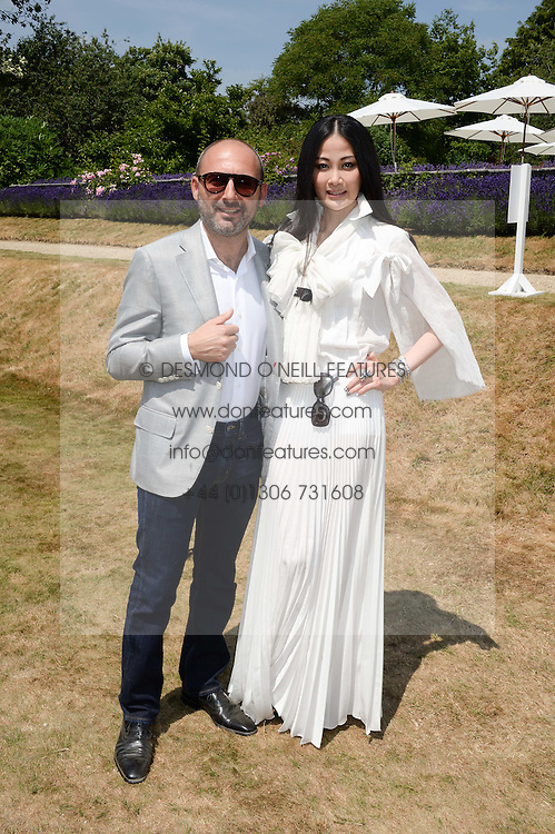 Karen Ng and Francesco Paolillo at the Cartier 'Style et Luxe' part of the Goodwood Festival of Speed, Goodwood House, West Sussex on 14th July 2013.